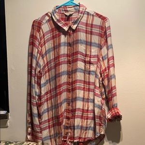 Lucky Brand multicolored flannel